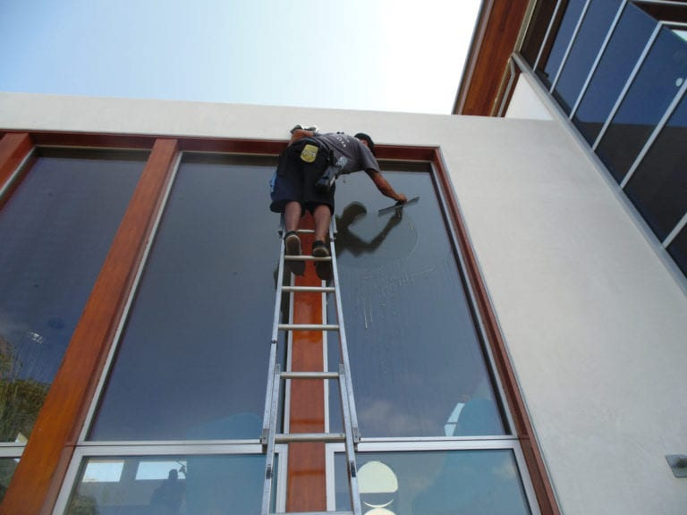 commercial cleaning window washing