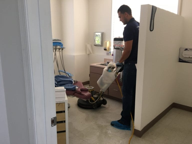 commercial cleaning strip and wax