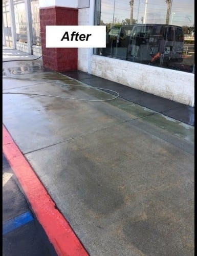 Power Wash After
